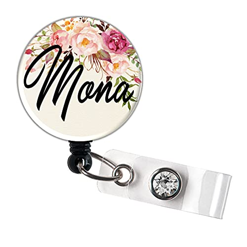 Flower Retractable Personalized Bombing free Ranking TOP7 shipping Persona Badge Reel