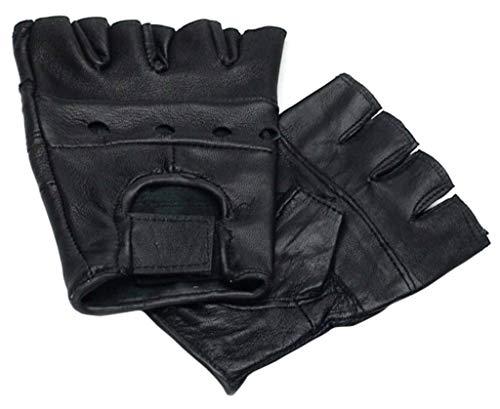 A. Blöchel Men's Plain Gloves Black Black
