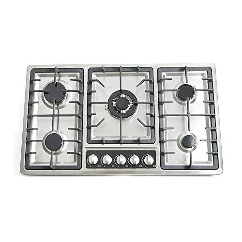 Cocina a gas encastrable para gas natural y gas propano, 5 fuegos NG/GLP/cocina a gas natural