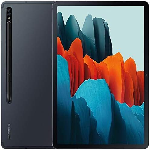 Samsung Galaxy Tab S7+ Plus w/S Pen (512GB, 8GB RAM) 12.4'', Snapdragon 865+, 10,090mAh Battery Wi-Fi Tablet - US Warranty SM-T970 (128GB SD Bundle) (Mystic Black)