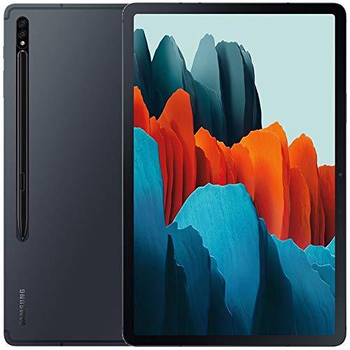 "Samsung Galaxy Tab S7 w/Low Latency S Pen (128GB, 6GB RAM) 11.0"" 120Hz Display, Snapdragon 865+, 8000mAh Battery, Wi-Fi Performance Tablet SM-T870 (64GB SD Bundle) (Mystic Black)"