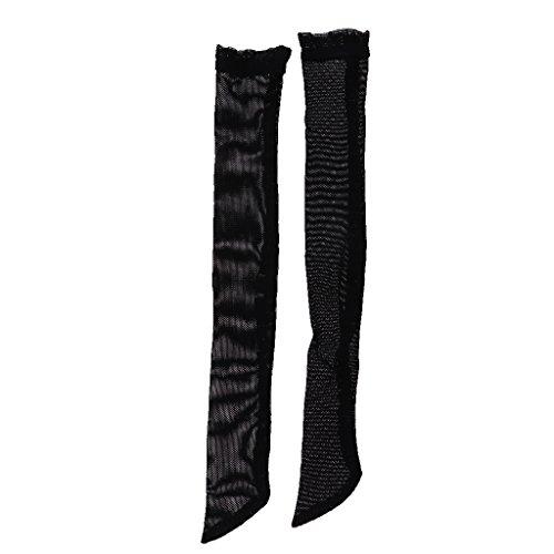 MagiDeal Paar Fishnet Strümpfe Socken Für 1/4 BJD SD DOD LUTS Puppen - Schwarz, 1/4