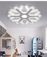 PLLP 装飾的なシャンデリア、シーリングランプ、50Cmの超薄型アクリルLedシーリングライト、クリエイティブスマートホームランプホワイトライトラウンド調リビングルームベッドルーム,ウォームライト