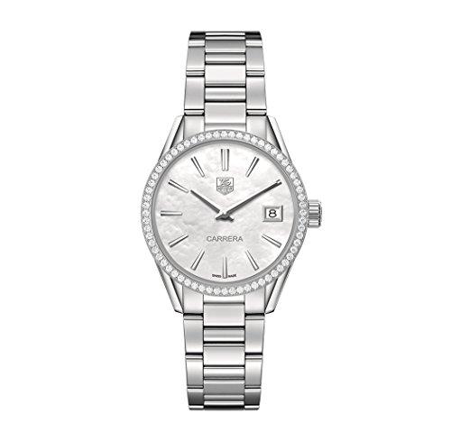 TAG Heuer Carrera - Reloj de pulsera para mujer (acero inoxidable, esfera de madreperla WAR1315BA0773)