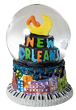 Artisan Owl New Orleans French Quarter Sky Mosiac 50mm Mini Souvenir Water Snow Globe