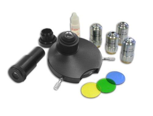 Bresser Mikroskop Phasenkontrast-Satz zur Kontraststeigerung von Mikroskopproben ohne diese einzufärben, geeignet für Bresser Science Mikroskopserie