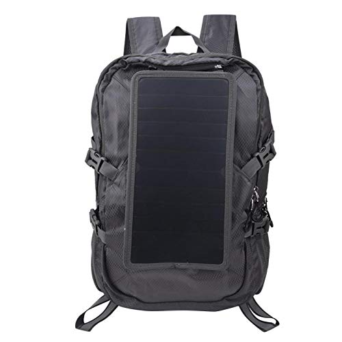 Sac à dos solaire de randonnée pliable en polyester Lightweigt Sac à dos solaire Sac à dos de randonnée pliable, avec panneau de batterie solaire, pour femmes hommes
