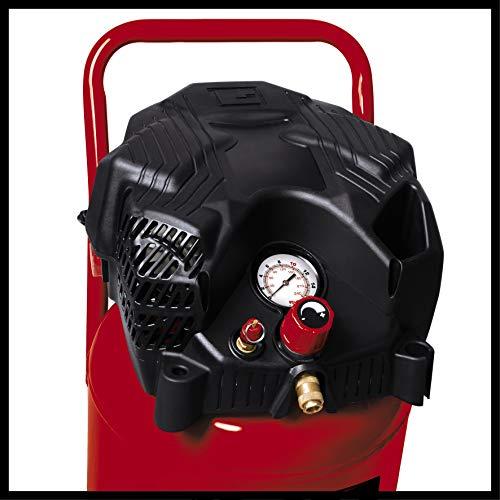 Einhell Kompressor TH-AC 240/50/10 OF (1500 W, 240 l/min Ansaugl., 50 l Kessel, 10 bar max. Betriebsdruck, öl- und wartungsarm, Druckminderer, Manometer) - 4