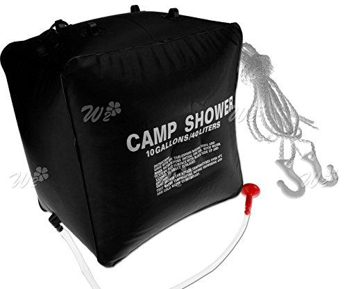 Create Idea Campingdusche Outdoor-Dusche Gartendusche mit 40L Solardusche Tasche Reisedusche mit Duschkopf