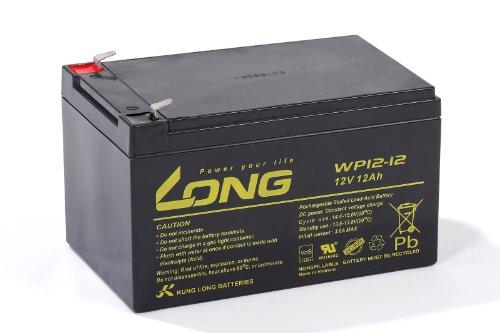 Akku Batterie Kung Long WP12-12 12V 12Ah wie 10Ah 11Ah 13Ah Blei Bleigel VdS geprüft