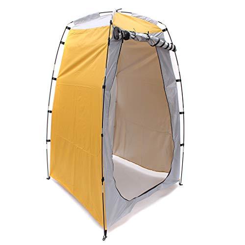 QIjinlook Wasserdicht Campingzelt Belüftet Wurfzelt Aufstellzelt Langlebig Kerker Strandzelt Tragbarer automatischer Sonnenschutz UV-Schutz wasserdicht mit Aufbewahrung (Gelb)