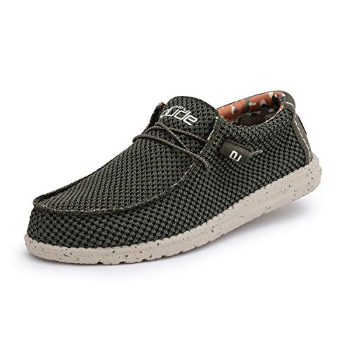 Hey Dude Wally Sox - Mocasines para Hombre - Color Musk -...