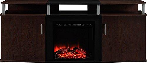 Ameriwood Home Carson Electric Fireplace TV Console for TVs up to 70