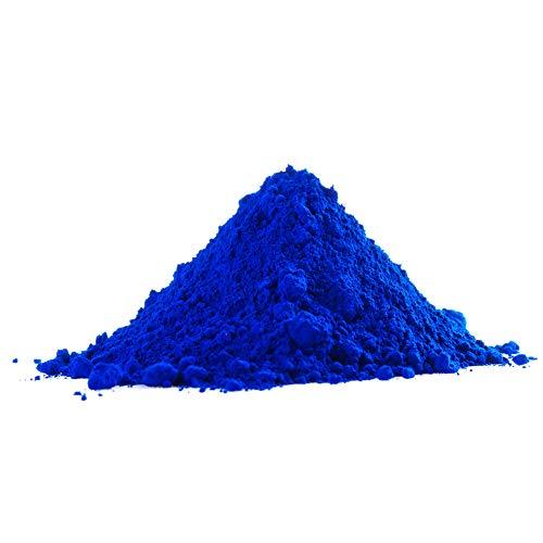 Eisenoxid Pulver Trockenfarbe Oxidfarbe Pigmentfarbe Pigmentpulver für Beton Estrich Zement Gips Putz Epoxidharz Boden Wand Garage etc. Blau - 5Kg