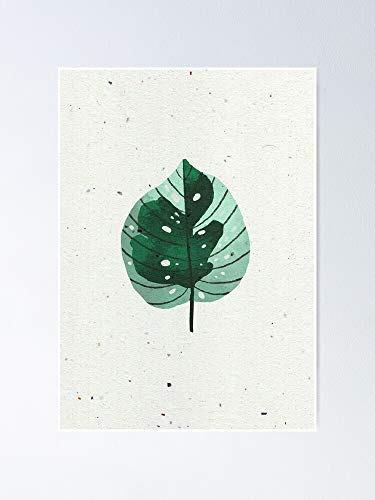 AZSTEEL Betel Leaf Watercolorgouache Illustration Poster