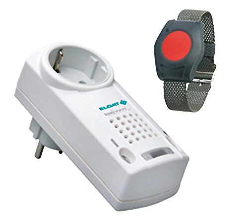 ELDAT RS10: Hausnotruf mit Funk-Notruf-Armband für die Pflege von Senioren, Altenpflege und Krankenpflege, Pflegeruf-Set ohne Quittierungsfunktion
