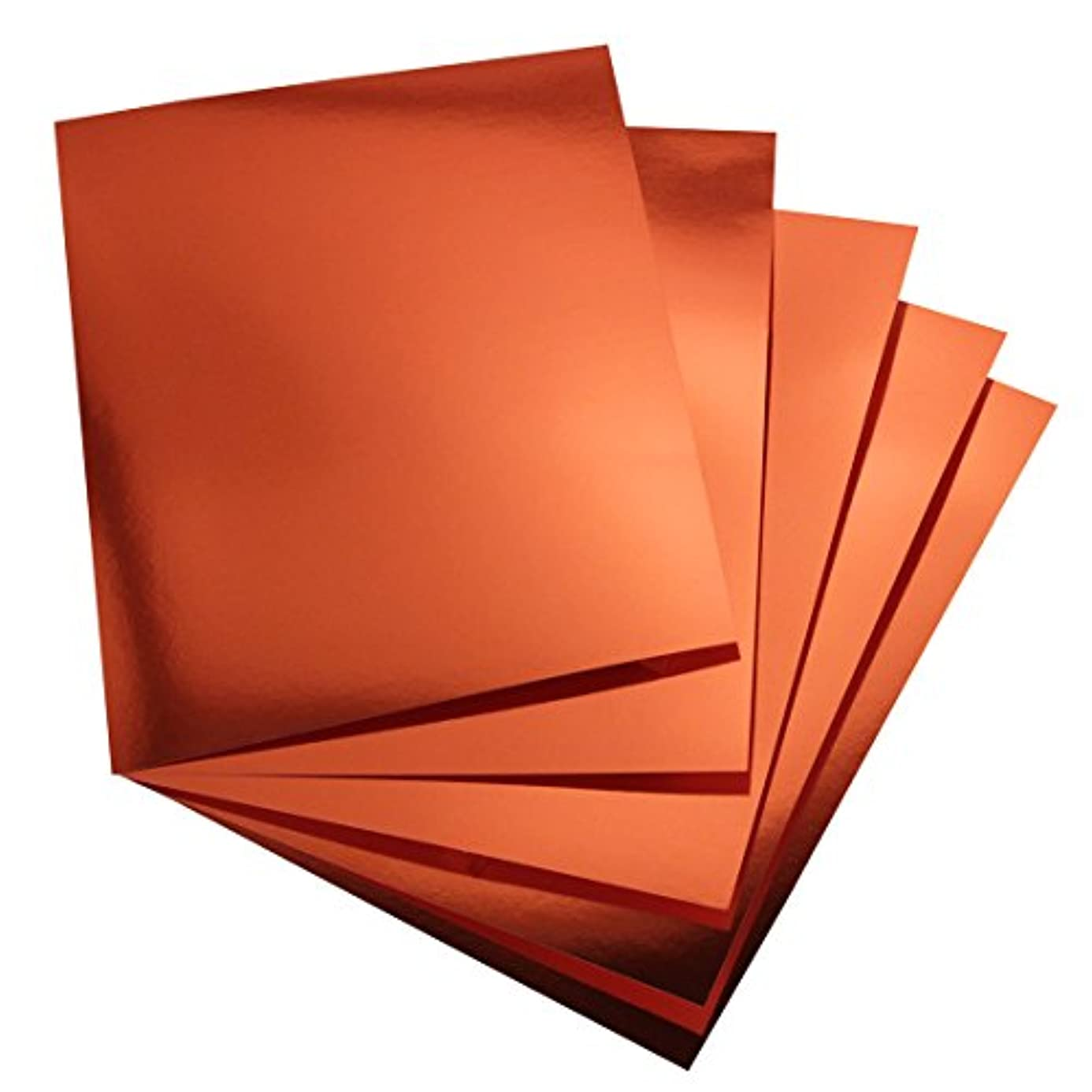 Hygloss Products Metallic Foil Board Sheets - 8.5 x 11 Inches – Red Copper, 25 Pack bsm4332079