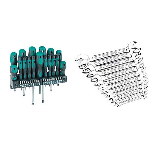 MannesmannM1141537 piezas Destornillador + juego de puntas + M 110-12Juego de llaves, 12 piezas, 6-32 mm