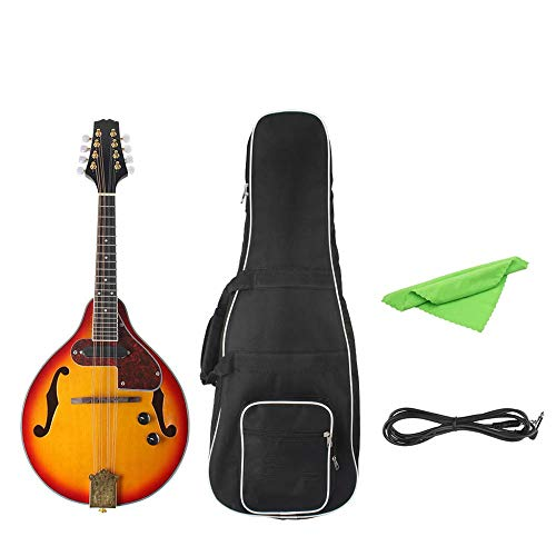 BESTSOON Klassische Akustikgitarre 8 Strings Sunset Farben-elektrische Mandoline Mit Pickle/Wischtuch / 3M-Verbindung Kinder und Junior-Gitarre (Color : Sunset Color, Size : 68 x 27.4 x 4.8 cm)