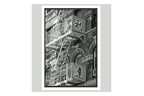 Imán flexible, decoración para nevera, color negro y blanco, Nueva York