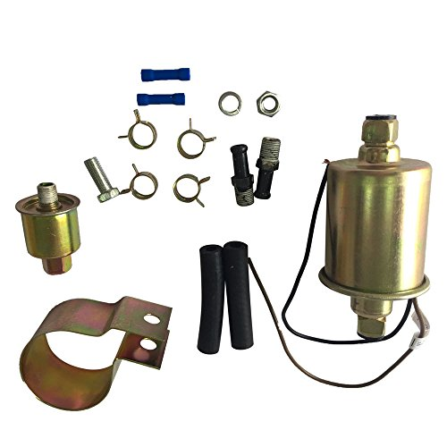 Electric Gas Fuel Pump with Installation Kit 12V 5-9 PSI For BUICK CADILLAC CHEVROLET FORD GMC JEEP MERCURY OLDSMOBILE PLYMOUTH
