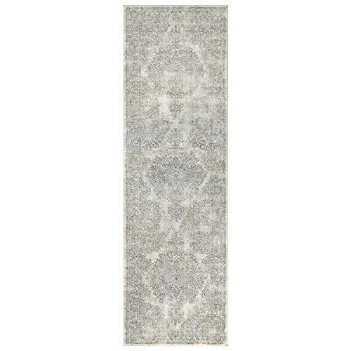 WEBTAPPETI.IT Tappeto passatoia Vintage corridoio Stile Moderno Boho Delave Grey cm.67X230