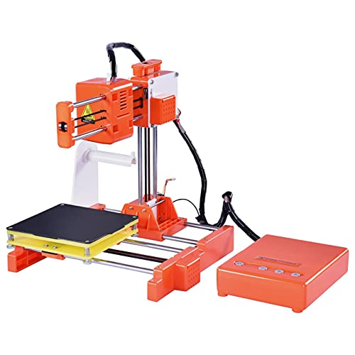 hooks Mini 3D Printer for Kids & Beginners, Small 3D Printer with complete operating videos, DIY Easy-assemble, Fast Heating, Low Noise, Printing Size 4'×4'×4',for Home, School