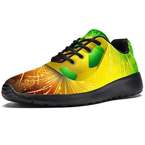 Lorvies Texture Fußball brasilianisches Sportschuhe für Herren, lässiger Sneaker für Herren, - mehrfarbig - Größe: 43 EU
