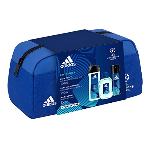 Coffret Adidas - Trousse UEFA6 DARE EDITION - 3 produits - Une Eau de Toilette, un Gel Douche et un Déodorant