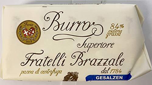 Prämierte Rohmilchbutter aus Sahne 84% Fettgehalt - Butter Superior fratelli Brazzale aus Italien Kräuterbutter gesalzene Butter geräuchert (gesalzen)