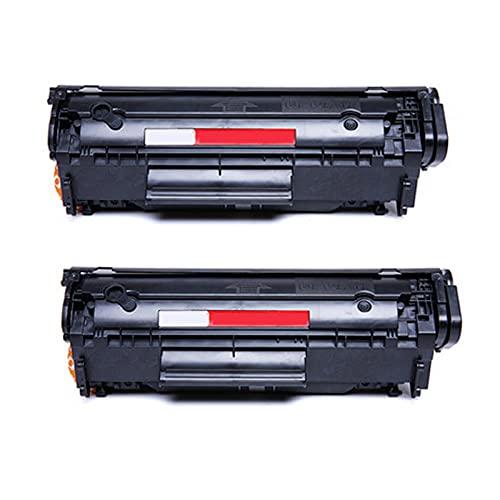 PPTT Cartucho de tóner 2612A Obras para HP Laserjet Pro 1010 1015 1020 1022 3015 3020 3030 3050 3052 3055 MFP1018 HM1005 Impresora de la Impresora Monochrome Printer, REN 2 pcs Black