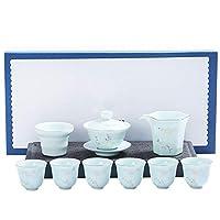 お茶セット紅茶/コーヒー用 セラミックティーポットセット、現代中華/日本のティーポット (Color : Green, Size : One size)
