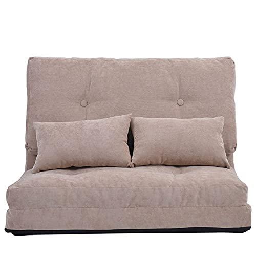 WYBFZTT-188 Cama Plegable Sofá Ajustable Bed Sala de Cama Colchón Piso Lazy Man Silla Silla Silla TELEVISOR Sala de Estar de la habitación del Almuerzo (Color : Gray)