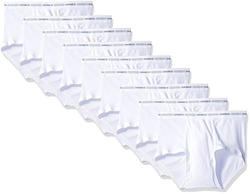 Hanes Red Label Men's 9-Pack Brief (White, Large)