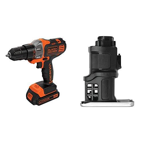 BLACK+DECKER 20V MAX Matrix Cordless Drill/Driver (BDCDMT120C) & Matrix Jig Saw Attachment For Cordless Drill (BDCMTJS)