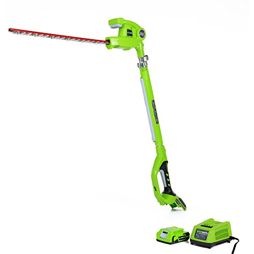 Greenworks 20-Inch 24V Cordless Pole Hedge Trimmer, 2.0 Battery Included 22242