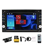 Eincar 2 Din Car Stereo GPS Navigation Car Double Din DVD/CD Player 6.2' Capacitive Touch Screen Head Unit Support Bluetooth Hands Free FM/AM RDS Radio USB/SD Steering Wheel Control with Camera