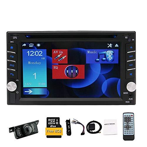 EINCAR 2 DIN Car Stereo GPS Navigazione per Auto Double DIN Lettore Dvd/CD 6.2'Touch Screen Capacitivo unità Principale Supporto Bluetooth Vivavoce Radio FM/AM RDS USB/SD Controllo del Volante