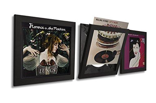 Art Vinyl, Schallplattenrahmen, Wechselrahmen, Album Cover, UV-Schutz, 3er-Set, schwarz
