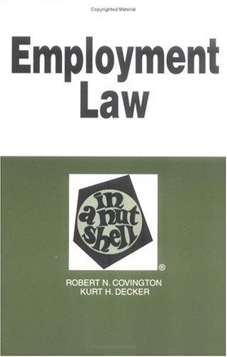 Employment Law in a Nutshell (Nutshell Series)