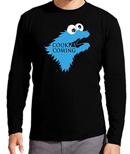 Camiseta Manga Larga de Hombre Juego de Tronos Stark Tyrion Daenerys Arya trisky Monstruo Galleta 2XL