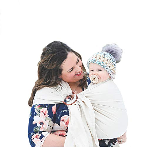 Image of the Nalakai Luxury Ring Sling Baby Carrier – Extra-Soft Bamboo and Linen Fabric - Lightweight wrap - for Newborns, Infants and Toddlers - Perfect Baby Shower Gift - Nursing Cover