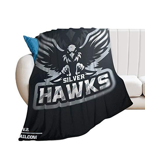 Custom made Silver Hawks V. Manta suave transpirable para guardería y cuna, manta para cochecito de bebé, perfecta para cama doble, universal, 150 x 130 cm