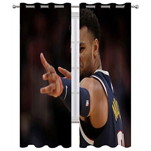 SSKJTC Verdunkelungsvorhang mit Ösen, Basketball, Sstar Domineering Augen für Innenfenster, (B 214 x L 214 cm)