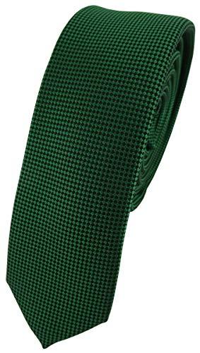 TigerTie - corbata estrecha - verde verde oscuro lunares
