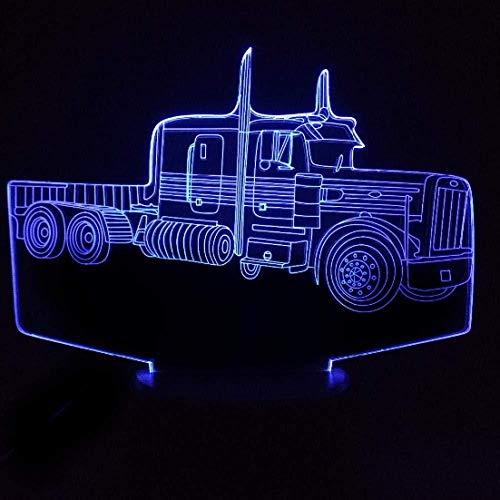 3D Illusion Night Light bluetooth smart Control 7&16M Color Mobile App Led Vision Tractor Air Plane USB USB Battery Home Bedroom Decor Kids colorful Creative gift