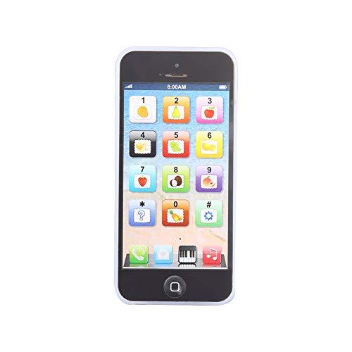 LFLF (Negro Juguete De Teléfono Móvil Recargable para Niños para Niños Juguetes Inteligentes