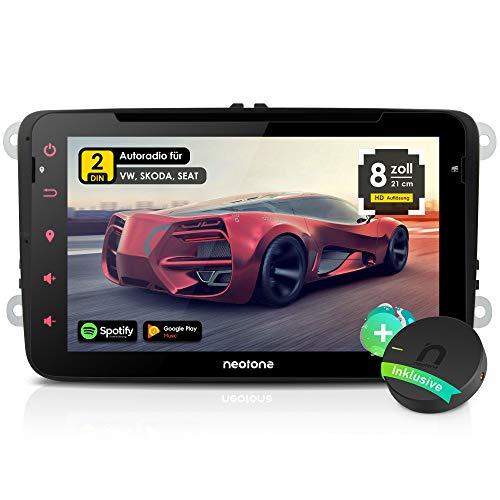 NEOTONE WRX-980A Autoradio für VW | Skoda | Sitz | Android 10 | Navigation mit Europakarten 2021 + Lifetimeupdate | DVD | DAB + | USB | WLAN | Bluetooth | MirrorLink | RDS (Autoradio+DAB)