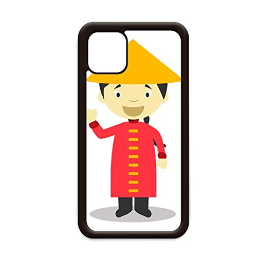 Rode lange jurk China Cartoon voor Apple iPhone 11 Pro Max Cover Apple mobiele telefoonhoesje Shell, for iPhone11 Pro Max