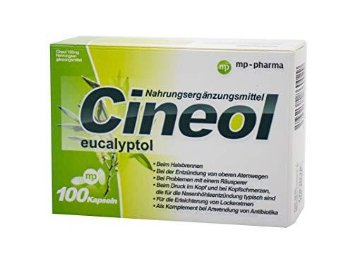 Cineol eucalyptol - 100% natürlich - Kapseln mit Eukalyptusöl - Bei Entzündungen der oberen Atemwege und Erkältungen - Nahrungsergänzungsmittel - 100 Stk.